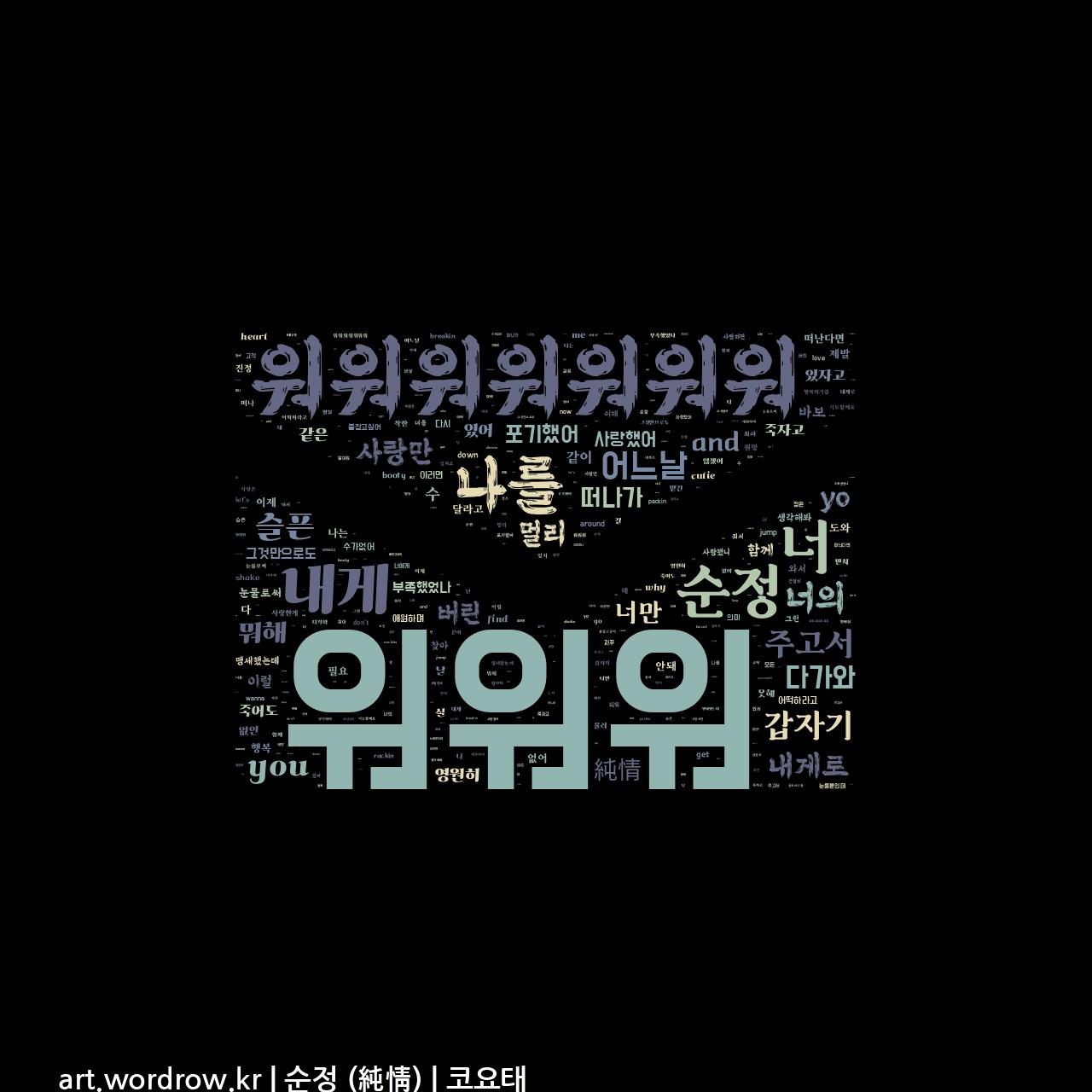 워드 클라우드: 순정 (純情) [코요태]-51